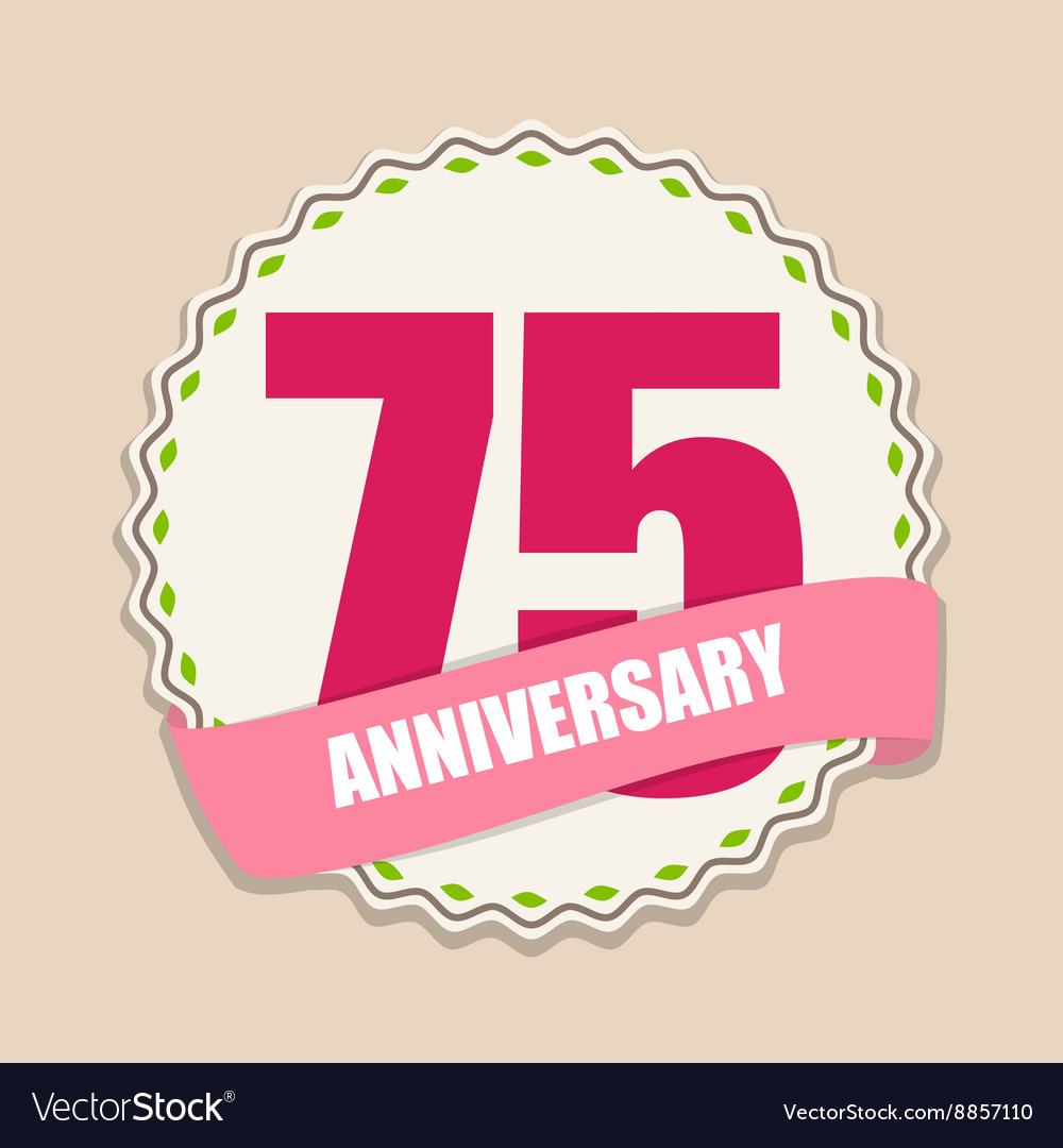 75 years free clipart image freeuse stock Cute Template 75 Years Anniversary Sign image freeuse stock