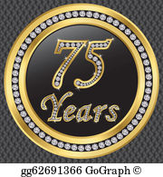 75 years free clipart svg library stock 75Th Clip Art - Royalty Free - GoGraph svg library stock