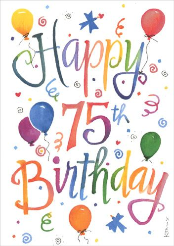 75th birthday gift clipart vector Pin by anita bingham on Cards | Happy 75th birthday, 75th birthday ... vector