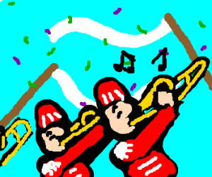 76 trombones clipart picture library download 76 Trombones Led the Big Parade - Drawception picture library download
