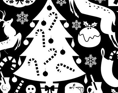 7th day of christmas black and white clipart image royalty free download The Yoga Quarter on Twitter: \