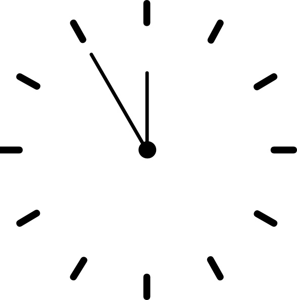8 21 clock clipart jpg library download Clock Clipart Black And White | Free download best Clock Clipart ... jpg library download