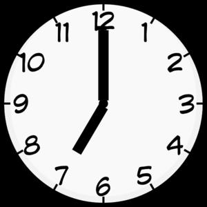 8 21 clock clipart clip black and white stock 7:00 Clip Art at Clker.com - vector clip art online, royalty free ... clip black and white stock