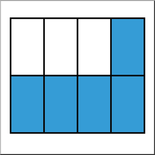 8 5 fraction clipart vector freeuse Clip Art: Rectangle08 5/8 Color I abcteach.com | abcteach vector freeuse