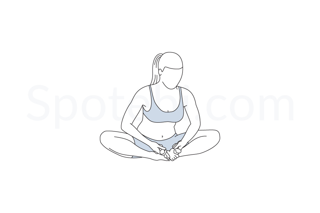 8 angle pose clipart png download Bound Angle Pose | Baddha Konasana png download