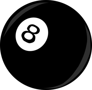 Eight ball clipart