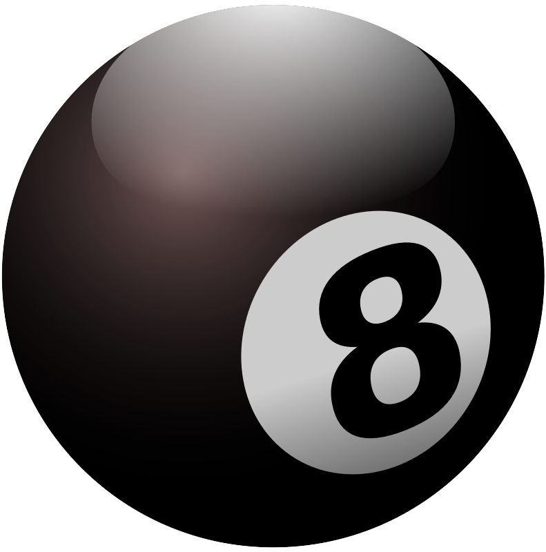 8 ball cliparts clipart black and white Free Clipart: 8-ball | natanteam clipart black and white