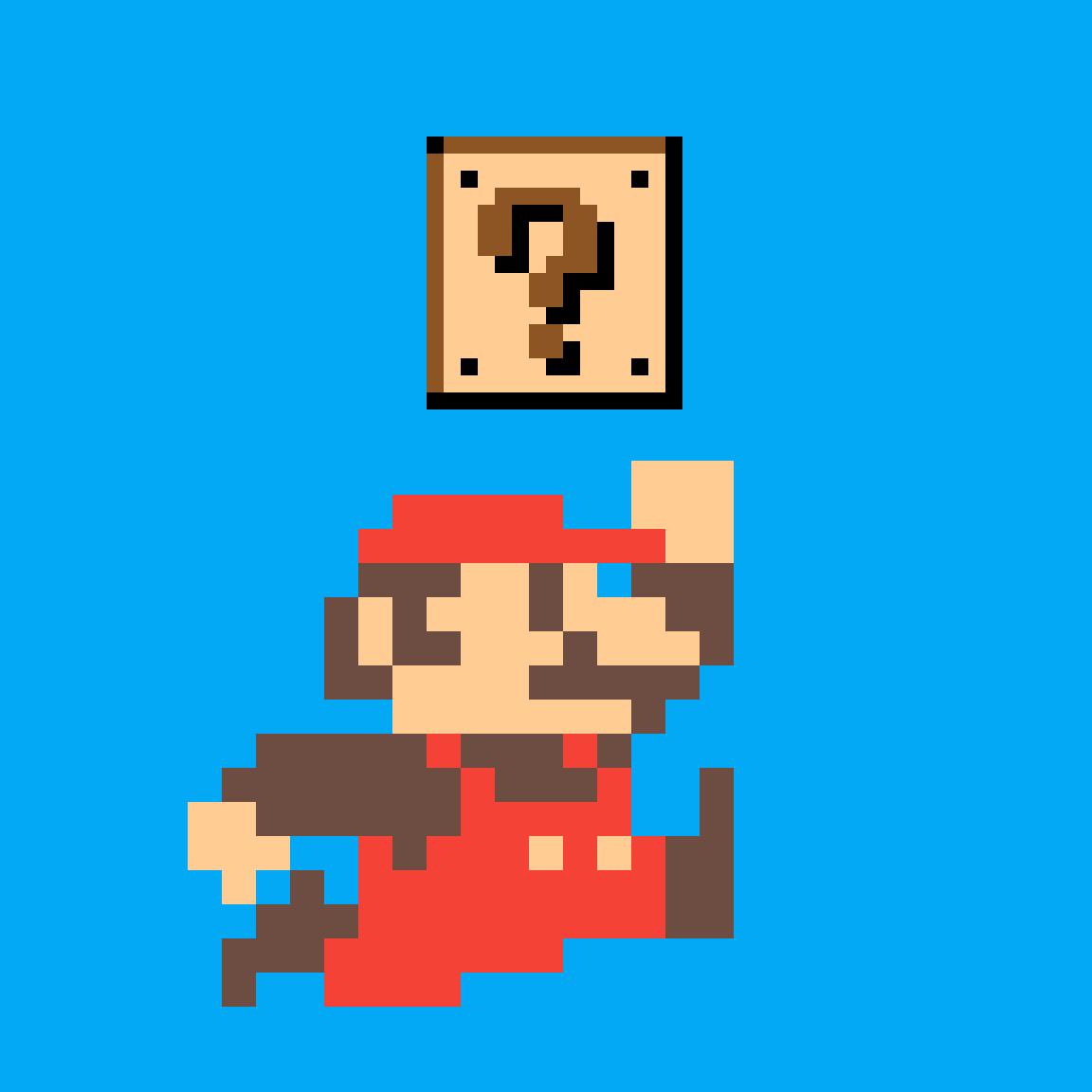8 bit clipart 64x64 transparent download Pixilart - 8-bit Mario by solimhm transparent download