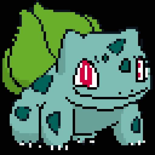 8 bit clipart 64x64 jpg transparent download 8-Bit Bulbasaur [Team Fortress 2] [Sprays] jpg transparent download
