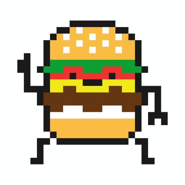 8 bit hamburgers clipart banner free stock 8 Bit Burger banner free stock