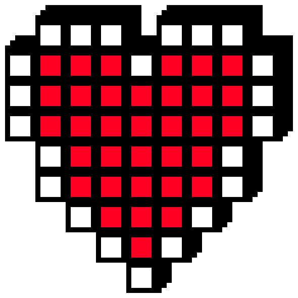 8 bit heart clipart clipart royalty free 8 bit heart | Pixel Art Maker clipart royalty free