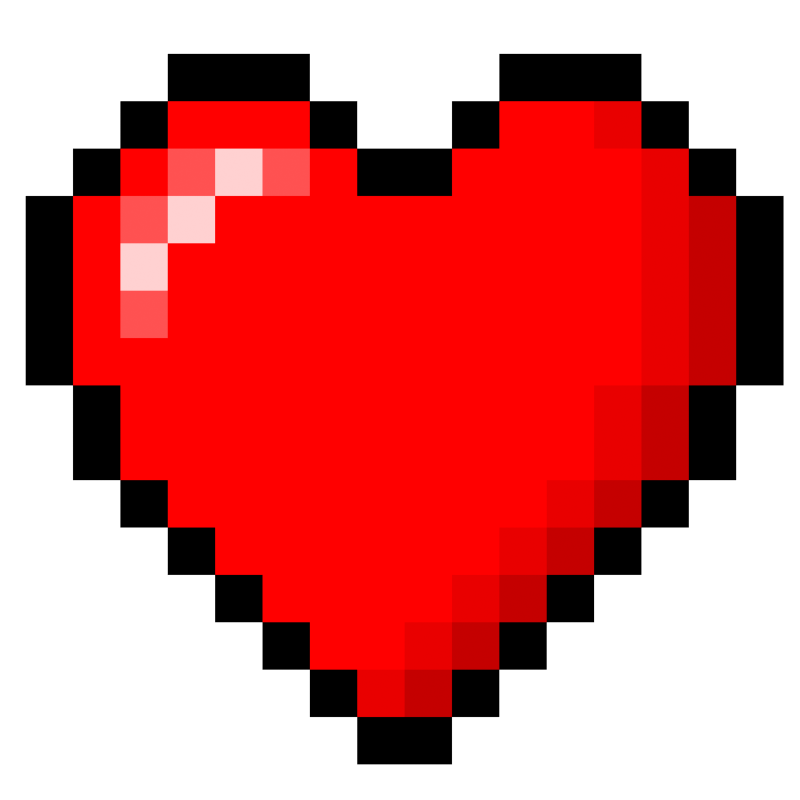 8 bit heart clipart vector black and white stock 8-Bit heart stock by xQUATROx on DeviantArt vector black and white stock