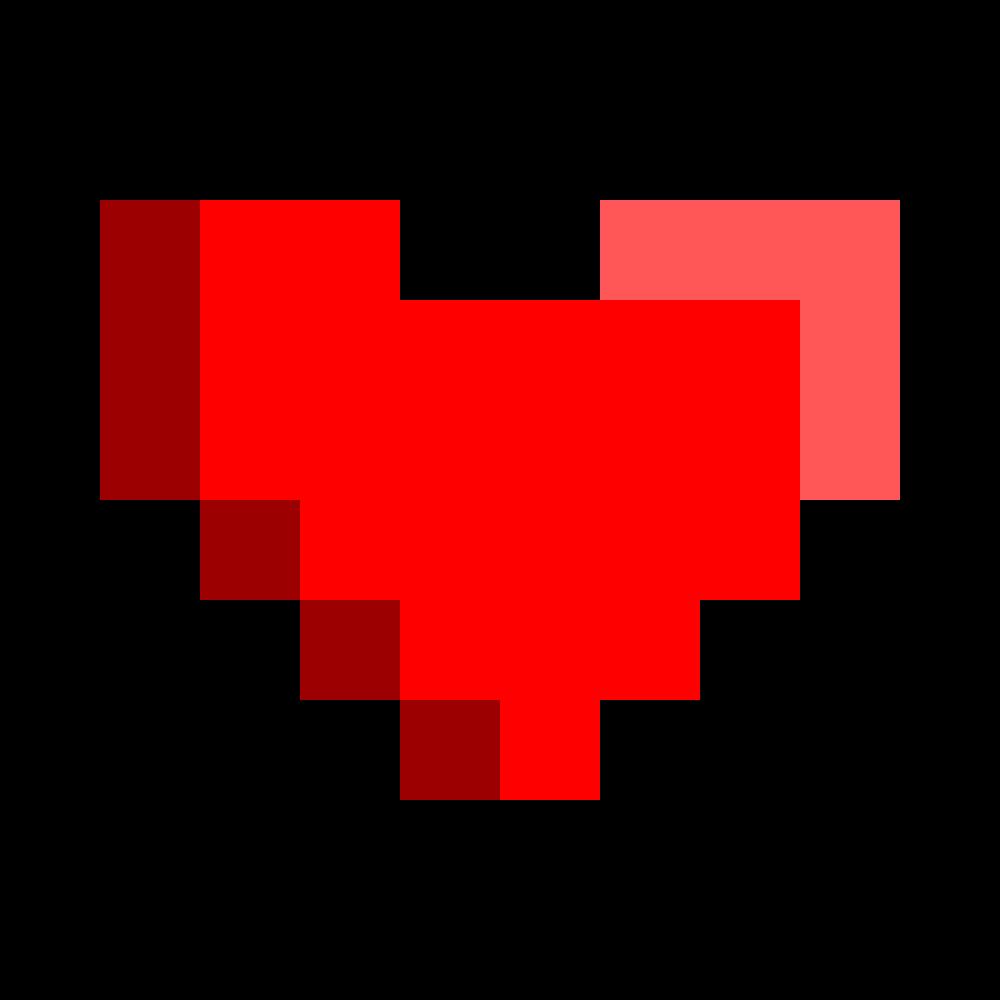 8 bit heart clipart jpg black and white stock OnlineLabels Clip Art - 8Bit Heart jpg black and white stock