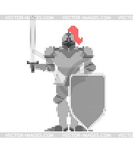 8 bit warrior clipart clipart free library Knight pixel art. Metal armor warrior 8 bit. Digita - vector clipart clipart free library
