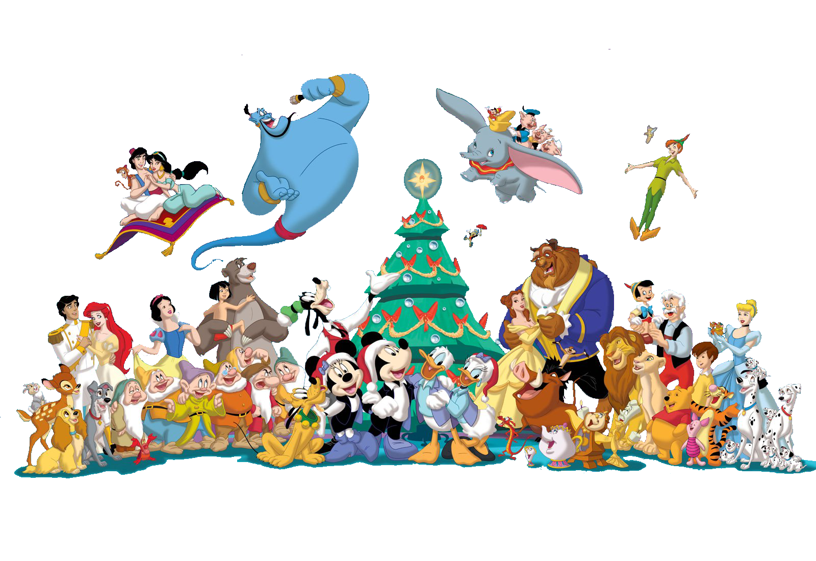 8 disney characters clipart graphic stock Mickey Mouse Goofy Minnie Mouse Art Fun Clip art - Christmas ... graphic stock