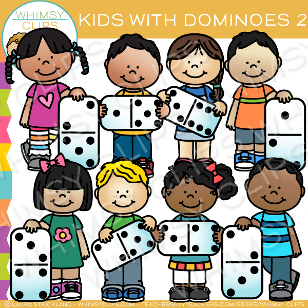 Kids Learn with Dominoes Clip Art - Set Two png library
