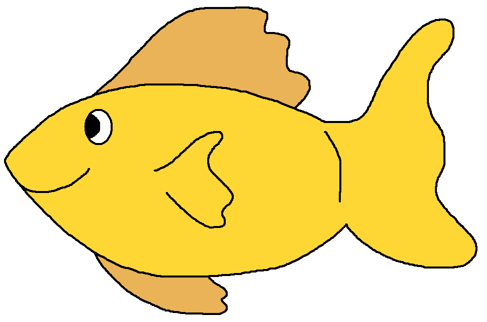 Yellow fish background clipart png black and white stock Fish clip art microsoft free clipart images - Clipartix png black and white stock