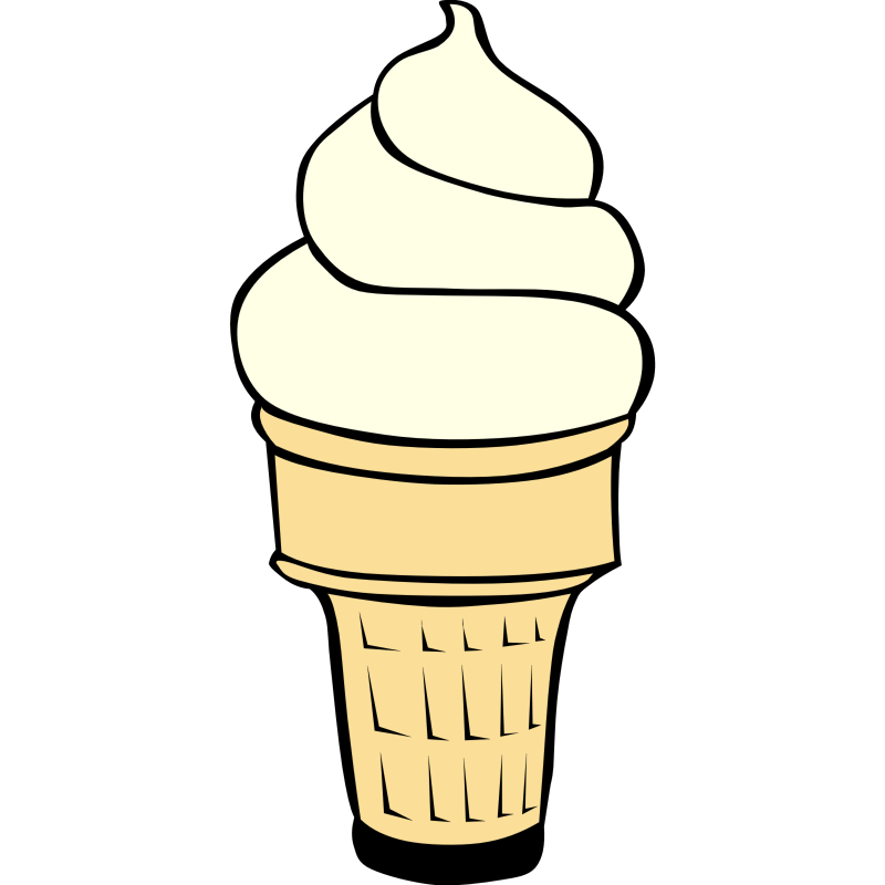 8 ice cream cones clipart