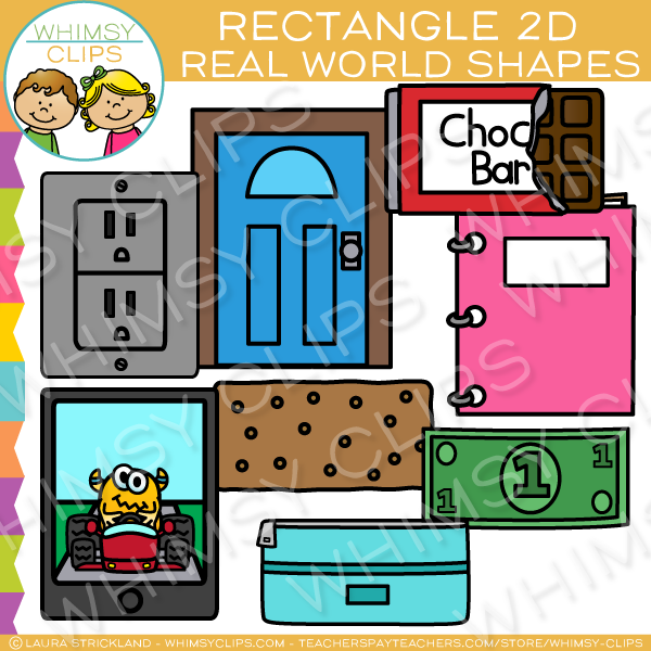 8 objects clipart royalty free Rectangle 2D Shapes Real Life Objects Clip Art royalty free