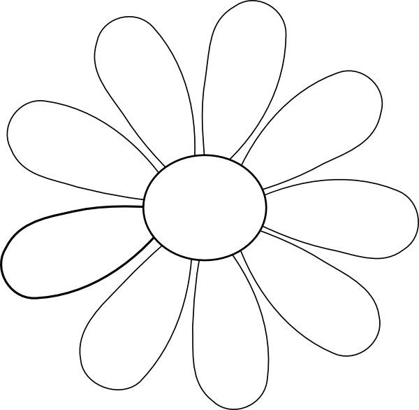Flower petal clipart black and white graphic transparent stock Flower Clip Art at Clker.com - vector clip art online, royalty free ... graphic transparent stock