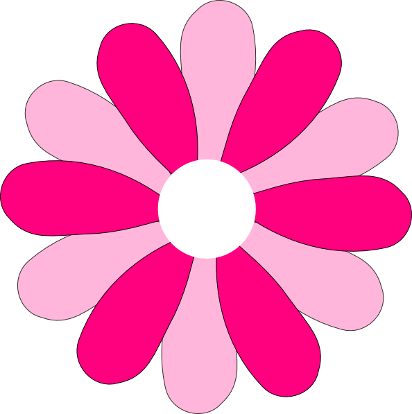 8 petal flower clipart graphic black and white download Pink Gerber Daisy Clip Art at Clker.com - vector clip art online ... graphic black and white download