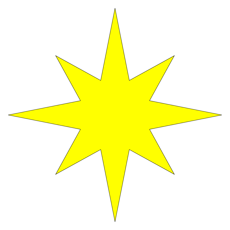 Star of bethlehem clipart free png transparent download File:Symmetrical 8-pointed star.svg - Wikimedia Commons png transparent download
