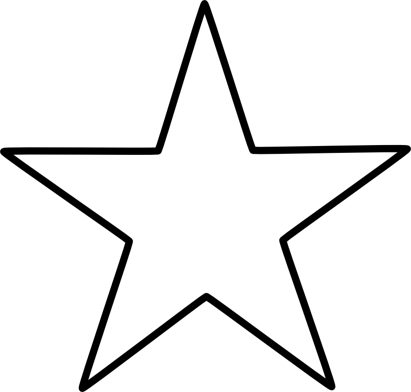 North star clipart black and white png library library Large Star Pattern | Five Pointed Star represents the five wounds of ... png library library
