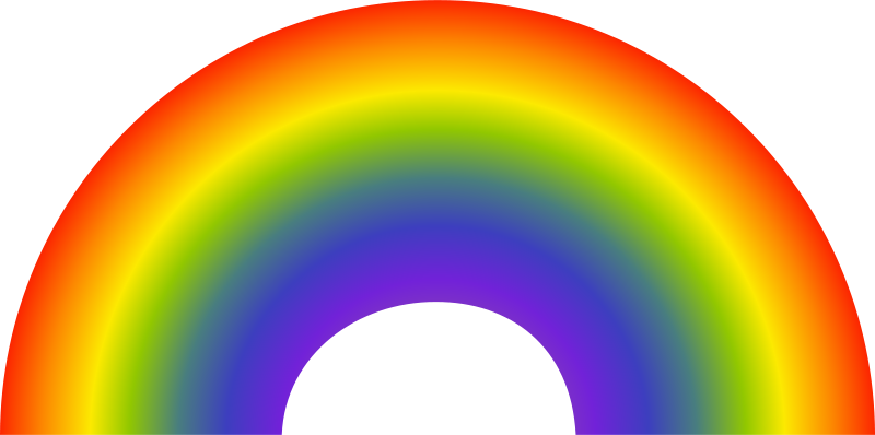 8 rainbow clipart banner transparent stock Rainbow clipart 8 - Clipartix banner transparent stock