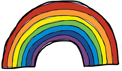 8 rainbow clipart clipart black and white colourful-rainbow-clipart-8 - Ayresome Primary School clipart black and white