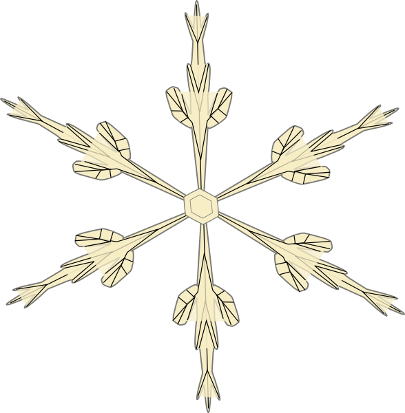 Cartoon snowflake clipart transparent png black and white Snowflake 3 Clip Art at Clker.com - vector clip art online, royalty ... png black and white