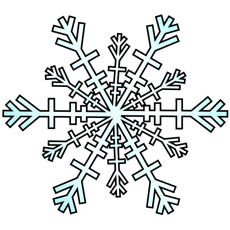 Silver snowflake clipart kids image black and white stock Pink And Blue Snowflake Clipart | Clipart Panda - Free Clipart Images image black and white stock