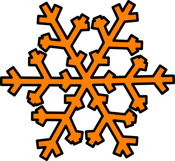 Blue snowflake page divider clipart svg stock Orange Snowflake Clip Art at Clker.com - vector clip art online ... svg stock