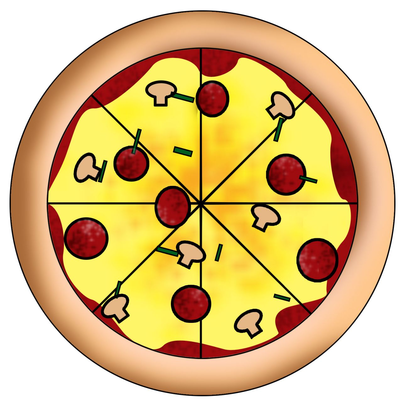 Pizza fractions clipart clipart transparent stock Free Cartoon Picture Of Pizza, Download Free Clip Art, Free Clip Art ... clipart transparent stock