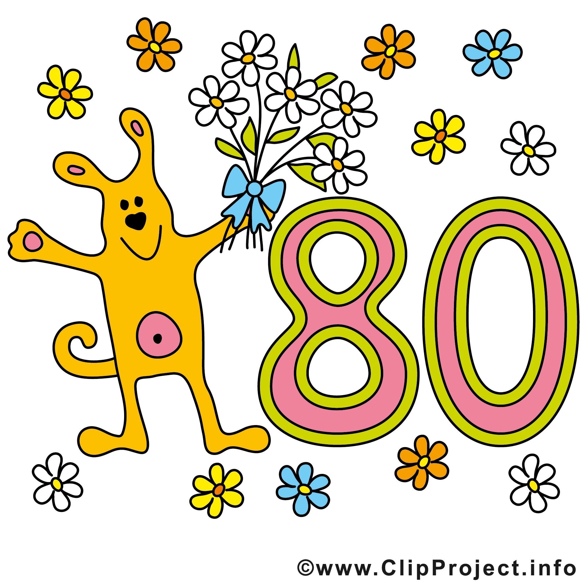 Chien 80 ans images – Anniversaire dessins gratuits - Anniversaire ... clipart royalty free library