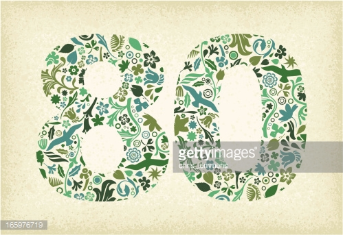 80 ans clipart - ClipartFest banner black and white stock