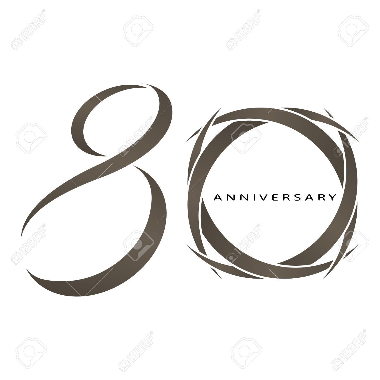The Abstract Of 80 Years Anniversary Vector Royalty Free Cliparts ... svg free library