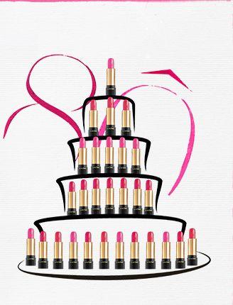 Rouges à lèvres Lancôme - 80 ans - Source Newsletter Lancôme ... svg download