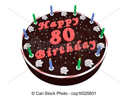 80 birthday clipart. Clip art of happy