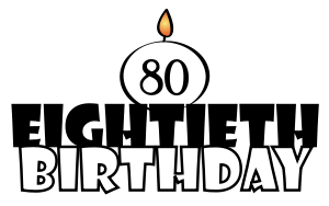 80 birthday clipart image library library 80th Birthday Clipart - clipartsgram.com image library library