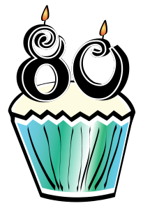 80 birthday clipart.  th borders kid