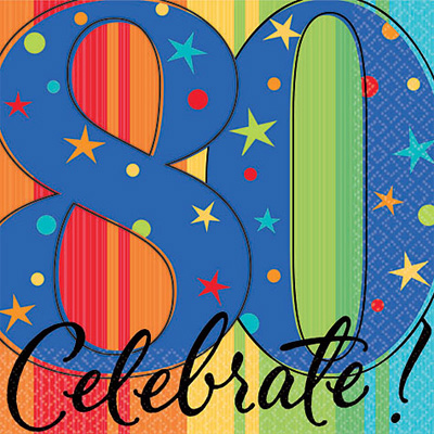 80 birthday clipart.  banner