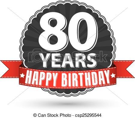 Happy th clip art. 80 birthday clipart