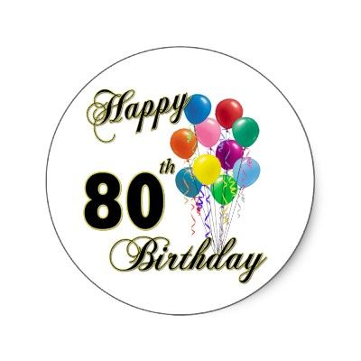 80 birthday clipart vector library Happy 80th birthday clip art - ClipartFest vector library