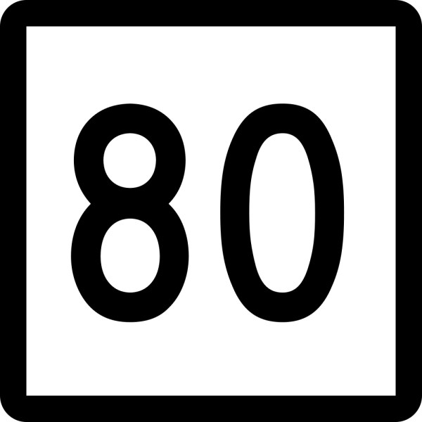 Number 80 clipart - ClipartFest picture freeuse download