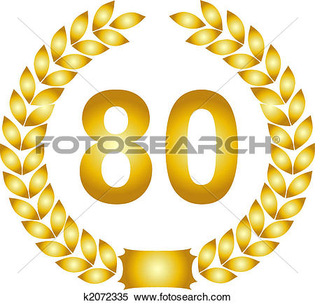 80 clipart. Stock illustration of golden