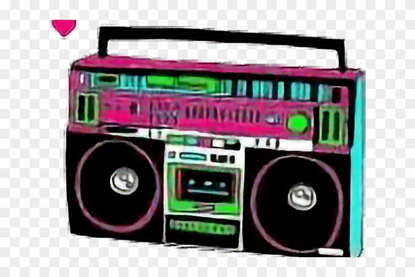 80 s boombox clipart vector free Neon Clipart 80\'s Boombox - Retro Boombox Png, Transparent Png ... vector free