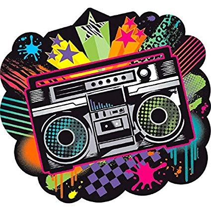 80 s boombox clipart svg royalty free stock 80\'s Bulk Party Cutout, 10.5\