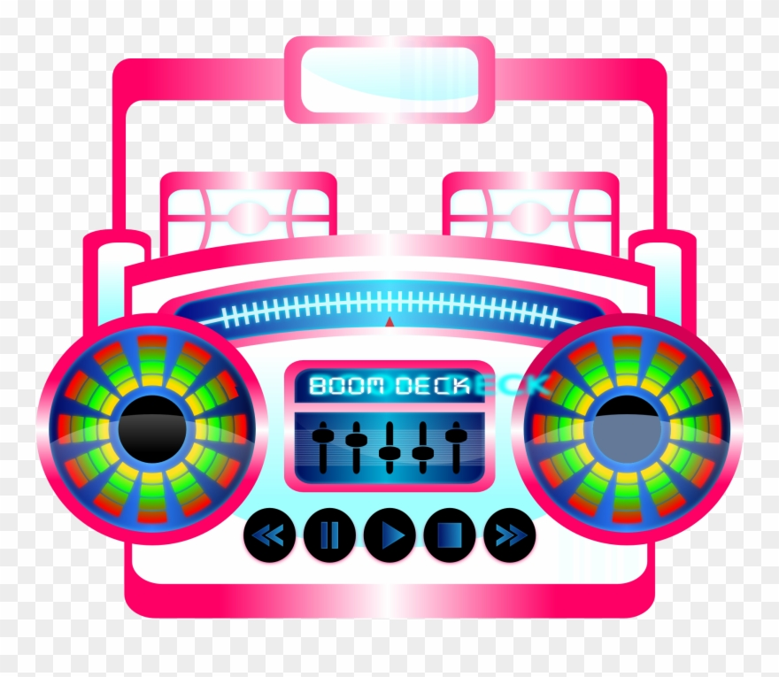 80 s boombox clipart png library stock 80s Boombox Clipart - Pop Music Clip Art - Png Download (#70092 ... png library stock