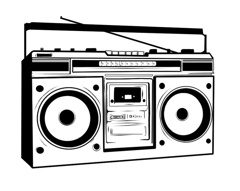 80 s boombox clipart clipart library library 80s Boombox N2 free image clipart library library