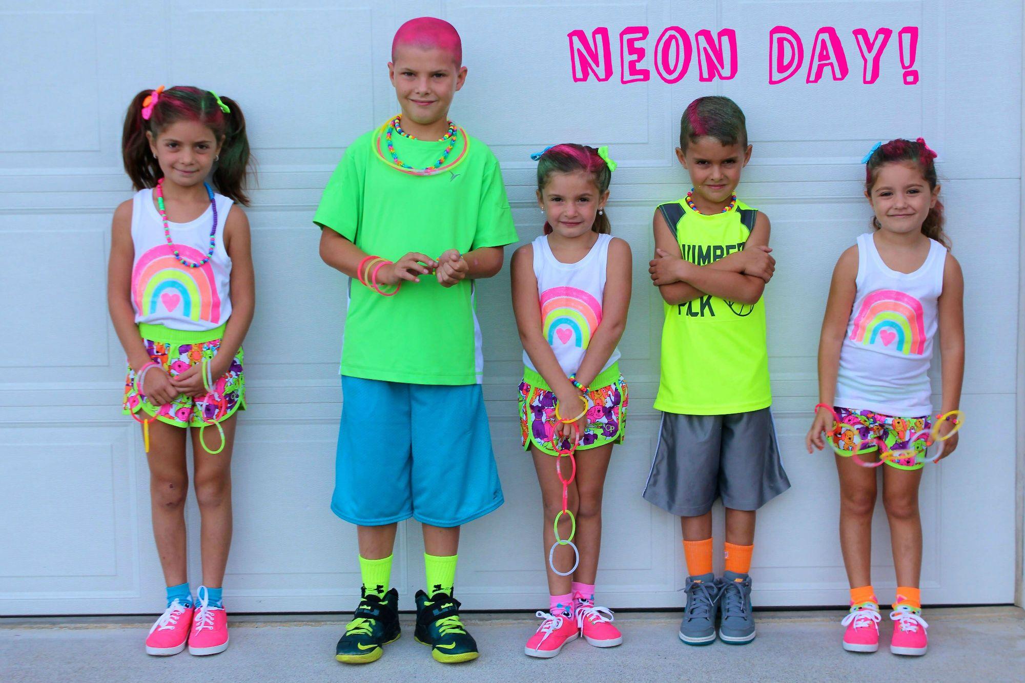 Wear neon clipart image stock Neon Day!!! | spirit week ideas | School spirit days, Sports day ... image stock